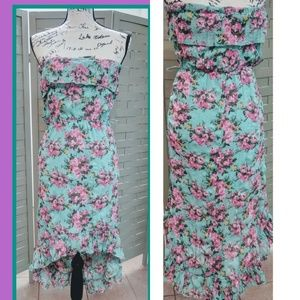 Rue 21 Summer Dress Floral Size M Strapless